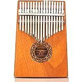 17 Touches Kalimba,GUNAI 17 Clés Piano à Pouce Professionnel Acajou Marimba Instrument de Musique avec Marteau d'accordage et