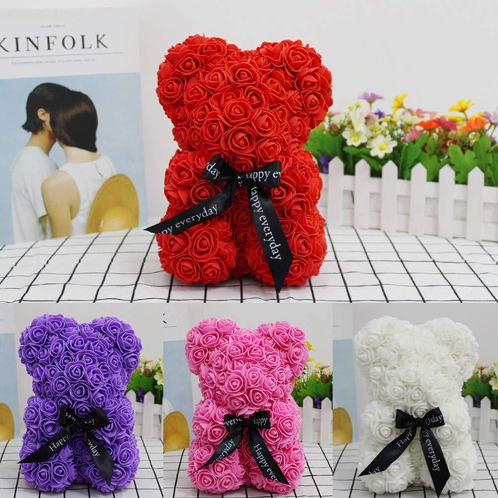 /éternelle Rose Artificielle Rose d/écoration utilis/ée pour m/ère Mariage Anniversaire Festival no/ël Anniversaire Fleur Nounours poup/ée d/écoration poup/ée Rose Ours Fleur d/éco