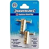 Silverline 427586 radiator-ontluchtingssleutel, 2-delig pakket met 2 stuks