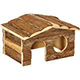 Dehner Casa para roedores Forest, Aprox. 26 x 19,5 x 16 cm, Madera, Natural