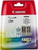 Canon CL-38 / PG-37 Original Tintenpatronen, Multipack 9ml/11ml mehrfarbig/schwarz