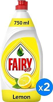 Fairy Lemon Dish Washing Liquid Soap Dual Pack 750ML@25%