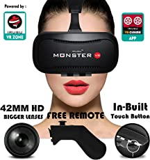 Irusu Monster VR headset with Remote Controller and Conductive Touch Button