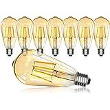 Ampoule LED Edison,OxyLED Lampe Edison Vintage 4W 400LM 2700K E27 ST64 Lampe Décorative Ampoules à incandescence Rétro Ampoul