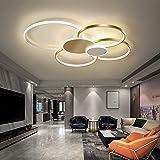 Bellastein Lampe de Salon Plafonnier LED Dimmable avec Télécommande, Plafonnier LED Chambre Plafonnier Moderne Métal Acryliqu