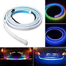 "Alria 47"" Car LED Tail Tailgate Rear Lights Bar Strip Flexible Waterproof Multi-Color Turn Sign Running Brake Caution Light DC 12V"