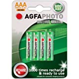 4 x AGFA AAA NiMh Cordless Telephone Rechargeable Batteries-Binatone, BT (inc Diverse, Studio, Graphite, etc–NOT SYNERGY…