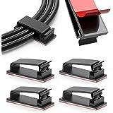 100 Pack kabelbeheerklemmen, zelfklevende draadhouders, kabelorganisatoren draadbeheer multifunctionele draadclipklemmen voor