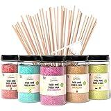 Greendoso-Sucre Barbe à Papa pour Machine (5X350 Gr) = 1,750 KG (Arômes et Colorants Naturels) Fraise-Cola-Pomme-Marshmallow-