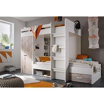Lifestyle4living Hochbett Jugendzimmer Kinderzimmer