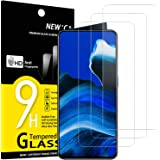 NEW'C 3-Stuks, Screen Protector voor Reno 2Z, Oppo Reno 2, Gehard Glass Schermbeschermer Film 0.33 mm ultra transparant, ultr
