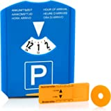 com-four® 1x Disco di Parcheggio con Raschia-Ghiaccio, Labbro di Gomma, Chip Carrello della Spesa e Misuratore…