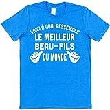 Click My Clobber Voici à Quoi Ressemble Le Meilleur Beau-Fils du Monde T-Shirt en Coton