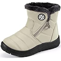Stivali da Neve Ragazzi Ragazze Scarpe Invernali Bambini Fodera Calda Stivali Piatto Impermeabili Stivaletti Morbide…