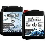 EpoxyPlast 3D B100 Epoxyhars, zeer helder, 11 cm (110 mm) giethoogte voor rivertische I ultra diamanthelder I maximale uv-bes