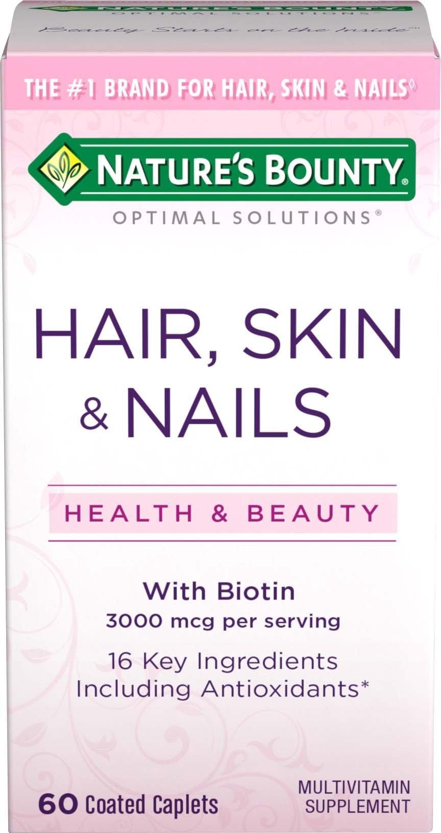 Nature's Bounty Optimal Solutions Hair, Skin & Nails Formula, 60 Tablets