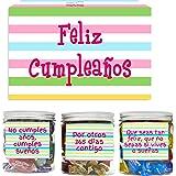 SMARTY BOX Caja Regalo Chuches Caramelos y Gominolas Cumpleaños Hombre y Mujer, Pareja, Amigos, Cesta Golosinas con Mensajes