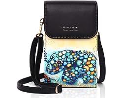APHISON Damen Handy Umhängetasche Kleine handytasch Schultertasche Frauen Brieftasche Cartoon Cross-Body Tasche PU-Leder RFID