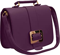 TAP FASHION Fancy Stylish PU Leather Women's Sling Bag with Adjustable Strap for Ladies and Girls