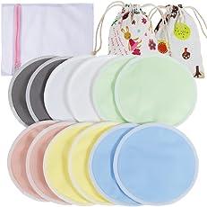 Lictin Stilleinlagen Stilleinlagen Waschbar Bio Stilleinlagen Hautfreundlich mit 1 Wäschenetz und 2 Stofftasche Wiederverwendbar