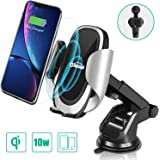 Oasser Caricatore Wireless Auto Caricabatterie Ricarica Rapida 10W Adatto Supporto per Samsung Galaxy, iPhone X/8/8 plus, LG
