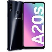 "Samsung Galaxy A20s, Smartphone, Display 6.5"" HD+, 3 Fotocamere Posteriori, 32 GB Espandibili, RAM 3 GB, Batteria 4000 mAh, 4G, Dual Sim, Android 10, 183 g, [Versione Italiana], Nero"