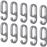 Gedotec haken voor garderobestang garderobekoker ovaal - H10623   kunststof zilver   kleerhanger voor garderobestang 30 x 15