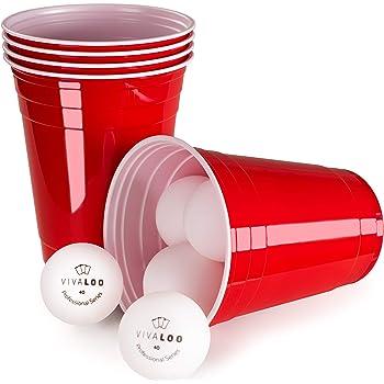 vivaloo gobelet rouge americain x50 gobelet plastique 6 balles beer pong 473 ml. Black Bedroom Furniture Sets. Home Design Ideas