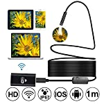 Wireless WiFi Endoscope, Prostormer HD 720P Borescope Inspection Camera in Soft Cable with 8pcs Adjustable LEDs for...