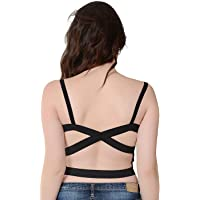 Dilency Sales T-Back Multicolor Padded for (Sports, Dancing Workout, Running) Bra Women's'/Girl's Fits Size - (32 to 36…