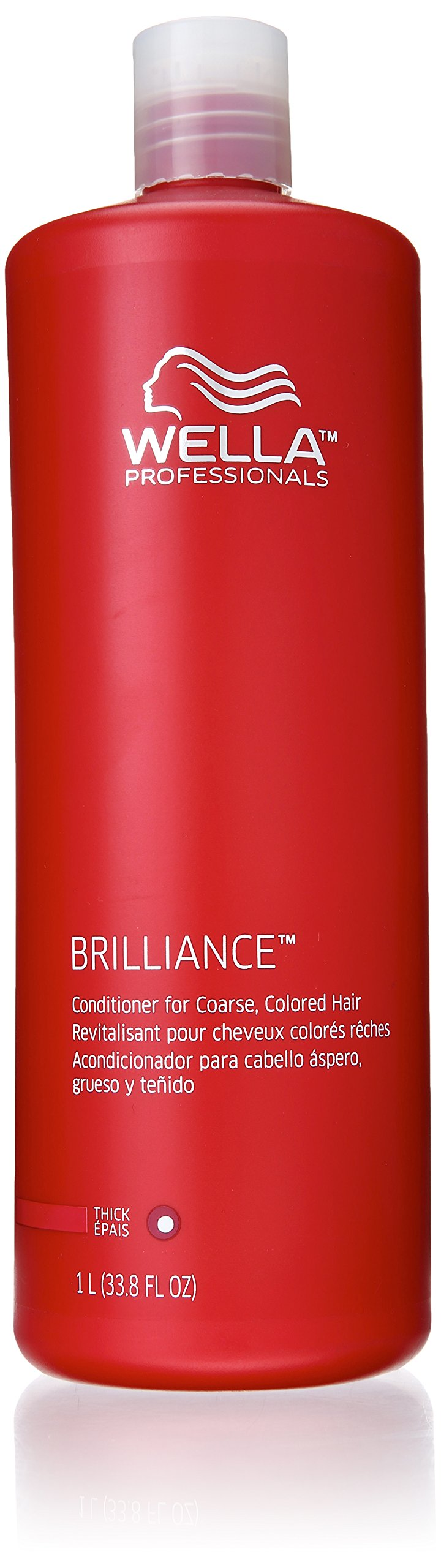 Wella Brilliance Conditioner for Coarse, Coloured Hair, 1000ml, 1000ml