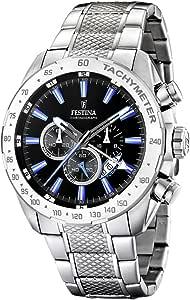 Festina - F16488/3 - Montre homme Chrono - Bracelet acier inoxydable