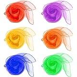 QLOUNI 12pcs Pañuelos de Malabares/ Bailar con los pañuelos/ Mágica Show/Decorativa Navidad/Malabares Bufandas Ideal para Mul