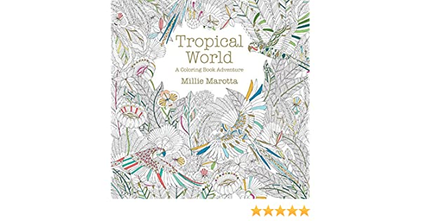 Tropical World A Coloring Book Adventure Millie Marotta Adult Amazoncouk Kitchen Home