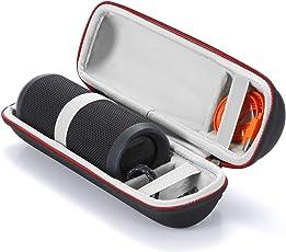 Harte Reise Lagerung Tragetasche für JBL Flip 4/JBL Flip 3 Wireless Bluetooth Portable Lautsprecher. Passend für USB-Kabel und Wand-Ladegerät-Schwarz