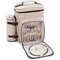 Zenph 2 Personen Picknicktasche, Kühltasche mit Isoliertasche, wasserdichte innere mit Flaschenhalter und…