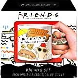 FRIENDS DIY Mug Design Set - Friends TV Show Mug for Coffee, Cocoa, & Tea, Decorate Your Own Mug Kit, 14oz Mug with Coaster