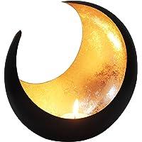 MAADES Photophore marocain Moon 20cm grand doré | Bougeoir Lanterne marocaine pour l'extérieur au jardin l'intérieur sur…