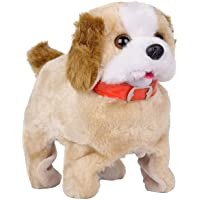 WIGZA Barking, Waging Tail, Walking and Jumping Puppy Baby Toy, Battery Operated Back Flip Jumping Dog with Sound and…