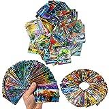 Zhybac Poke Card Trading Card 100 Tarjetas GX Completas, 100 Tarjetas, Divertidas Tarjetas Flash,Tarjetas GX Tag Team,Carta r