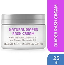 The Moms Co. Natural Diaper Rash Cream with Zinc Oxide, Organic Chamomile & Jojoba Oils, Oat Protein - 25g