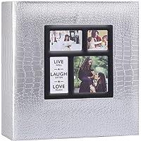 Ywlake Album Photo 500 Pochettes 10x15cm Photos Grand Format Famille Mariage Classique Couverture en Cuir Crocodile (50…