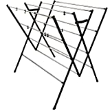 DRY LINE Basic - Folding Cloth Drying Stand/Cloth Dryer Stand with Stainless Steel RODS-Rust Proof/Made in India