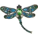 Mecool Broche Dela Broche de la libélula Broche de aleación de Insecto Volador de aleación de Insectos de Cristal Imitado