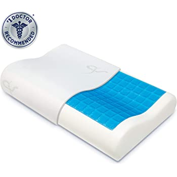 Supportiback® | The #1 Orthopaedic Pillow on Amazon | Doctor-Designed with Memory Foam Comfort Contours & Heat-Dissipating Cool Gel for Neck & Back Pain, Better Sleep