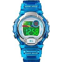 Orologi digitali per ragazze ragazzi, 5ATM impermeabile orologio sportivo per bambini con allarme/multicolore LED…