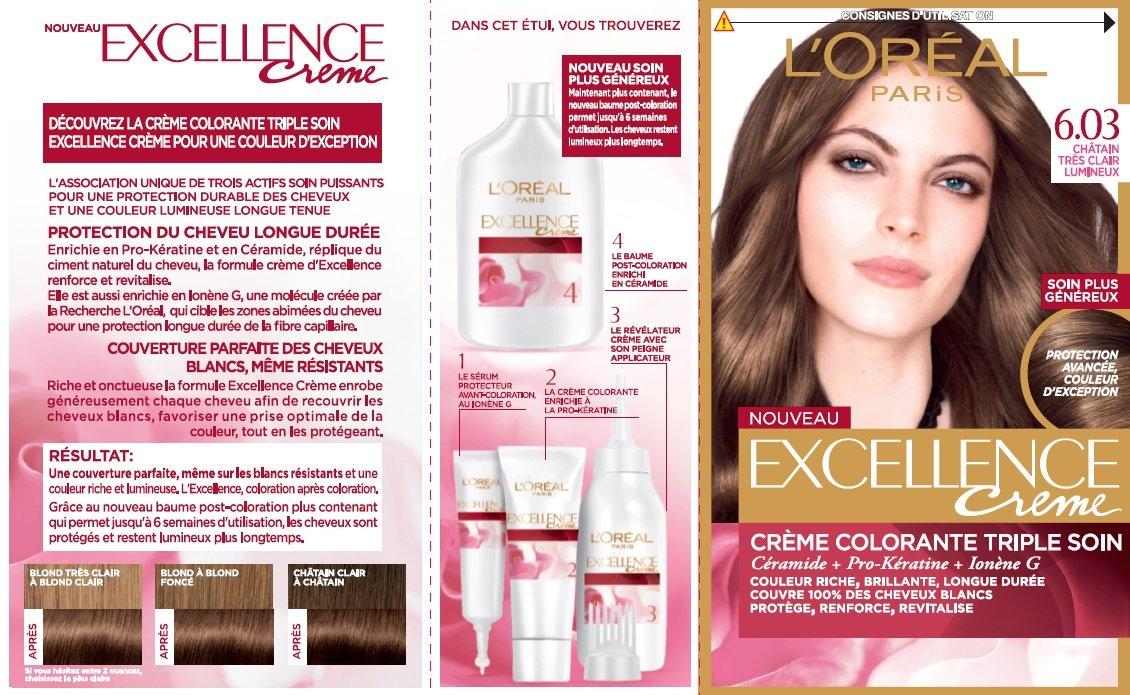 Assez L'Oréal Paris Excellence Couleur Permanente 6,30 Blond Foncé Doré  JO87