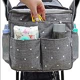 Bostar Bolsa de Carro para Bebe Bolsa Multifuncional de Gran Capacidad para Mamá Bolsa de Almacenamiento Correa Universal Sil