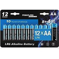 AA Batterien, AA Alkaline Batterien LR6 Mignon 12 Stück, LR6 AA Mignon Batterien 1,5 V Akku 10 Jahre Haltbarkeit für…
