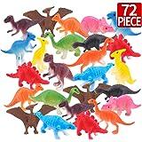 Amy & Benton Dinosaurier Spielzeug Set 72er Pack Mini Dinosaurier Figuren, Pädagogisches Spielzeug für Kinder Party Dekoration für Kinder 3-8 Jahre Alte